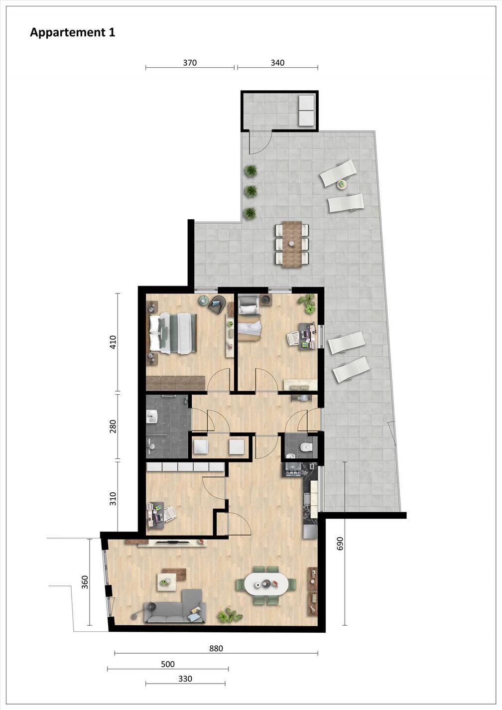 Te huur: Appartement Laar, Nistelrode - 3