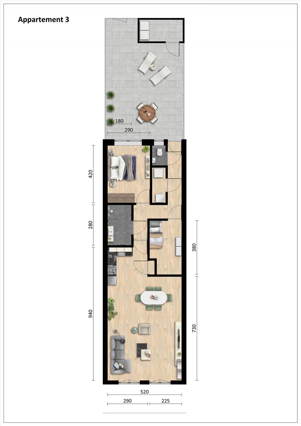 Te huur: Appartement Laar, Nistelrode - 1
