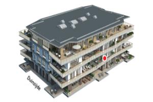 Bekijk appartement te huur in Den Haag Scheveningseweg: Leuk appartement  - € 2850, 120m2 - 355080