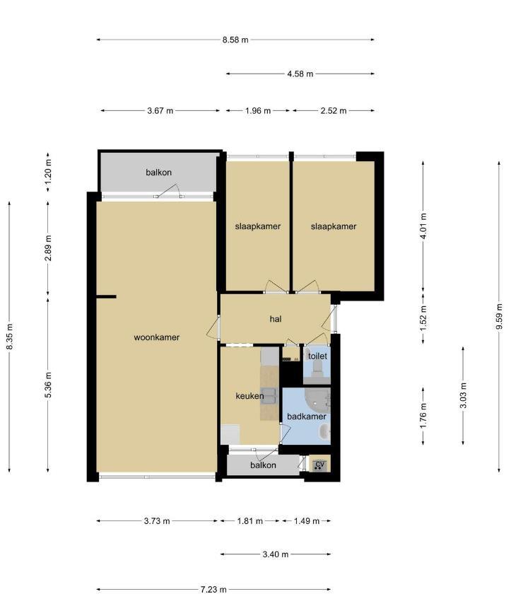 Te huur: Appartement Meridiaan, Amersfoort - 9