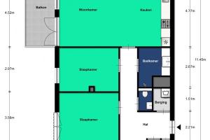 Bekijk appartement te huur in Utrecht Battutalaan, € 1395, 87m2 - 370932. Geïnteresseerd? Bekijk dan deze appartement en laat een bericht achter!