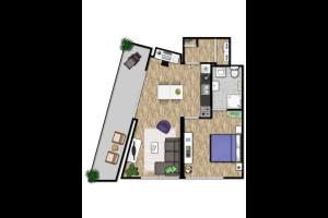 Bekijk studio te huur in Nijmegen de Genestetlaan: Studio appartement - € 839, 45m2 - 328382