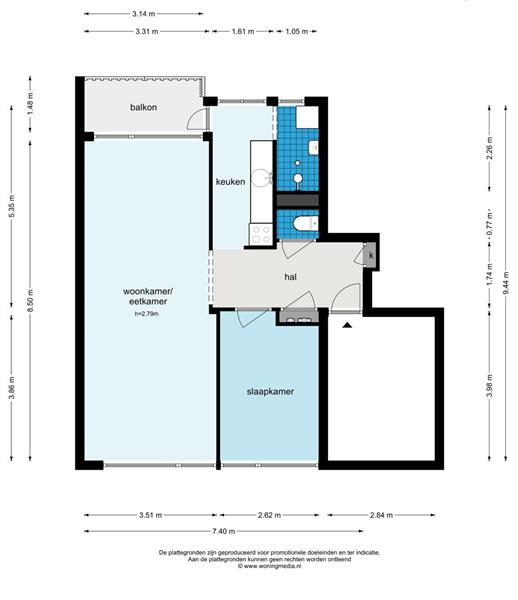 Te huur: Appartement Jan Prinsstraat, Weesp - 5
